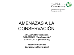 amenaza total actual a la conservación