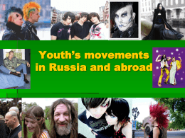 Youth´s movements in Russia and abroad