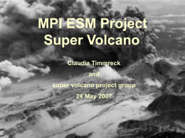 MPI ESM Project Super Volcano