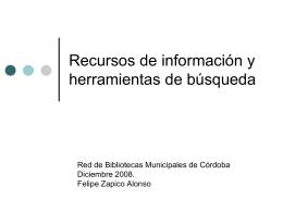 Recursos de información y referencia