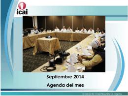 Septiembre 2014 Agenda del mes - RESI