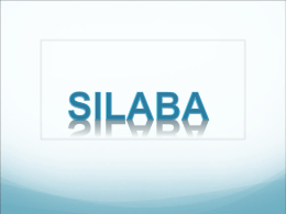 Silaba Tónica - Epiphany Catholic School