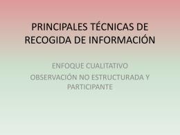 principales técnicas de recogida de información - ana-upn