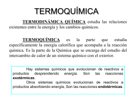 termoquímica - Aula Virtual Maristas Mediterránea