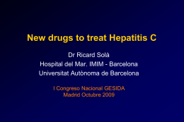 Manejo de nuevos fármacos antiVHC