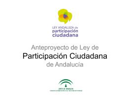 Anteproyecto de Ley Participación Ciudadana de Andalucía