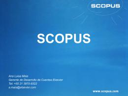 Presentación Scopus