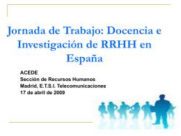 Jornada de Trabajo: Docencia e Investigación de RRHH