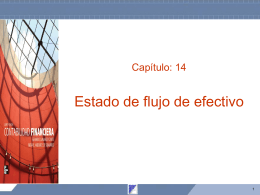 Capítulo 14 Estado de flujo de efectivo