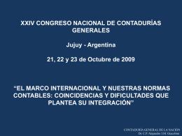 XXIV CONGRESO NACIONAL DE CONTADURÍAS