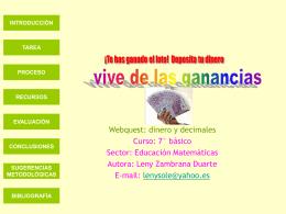 Título Webquest - decimales