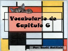 Vocabulario de Capitulo 6