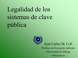 Protección jurídica de los sistemas de clave pública
