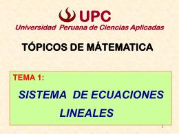 S.E.L - Universidad Peruana de Ciencias Aplicadas
