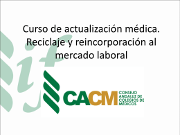 Diapositiva 1 - Colégio Medico de Sevilla