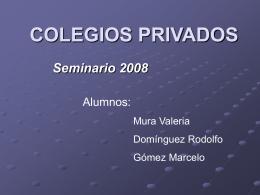 COLEGIOS PRIVADOS - portalhuarpe.com.ar
