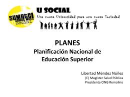 Proyecto Nacional para la Educación Superior Usocial