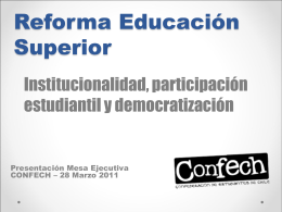 Educación Superior CONFECH 2010