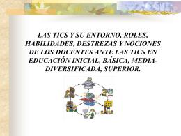 PRESENTACIÓN TICS - TICenelcontextoeducativo