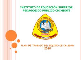 INSTITUTO DE EDUCACIÓN SUPERIOR PEDAGÓGICO PÚBLICO