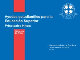 Ayudas estudiantiles para la Educacion Superior