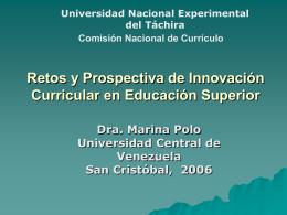Retos y Prospectiva de Innovación Curricular en Educación Superior