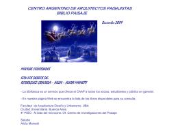 Diapositiva 1 - Centro Argentino de Arquitectos Paisajistas