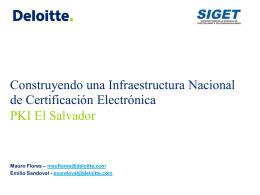 Construyendo una Infraestructura de Certificación Electrónica PKI El