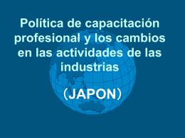 Políticas de capacitación profesional y los cambios en las