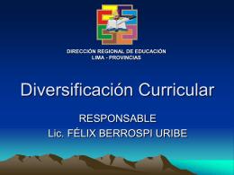 Programación Curricular Anual - Dirección Regional de Educación