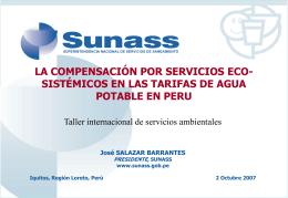 Rol del Sector Privado en el Pago del Servicios Ambiental Hídrico.