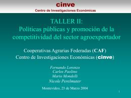 Presentación Taller II - CAF - Cooperativas Agrarias Federadas