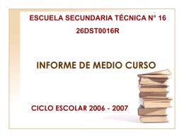 INFORME DE MEDIO CURSO