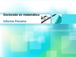 Doctorado en matemática