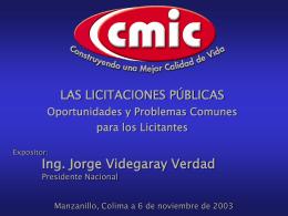 Conferencia - Cámara Mexicana de la Industria de la Construcción