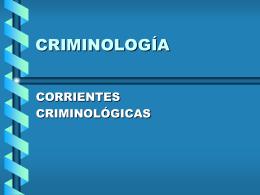 Criminología - Justicia Forense