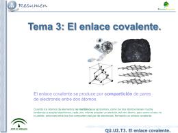 QU.U2.T3. El enlace covalente.