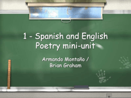 1 - Spanish and English Poetry mini-unit