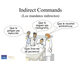 Indirect commands - Auburn City Schools