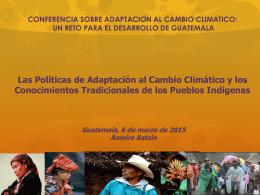 Las políticas de adaptación al cambio climático y los