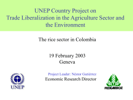 Trade Liberalization and the Environment: A Country