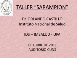 """TALLER """"SARAMPION"""" ORLANDO CASTILLO INS – IDS"""