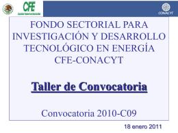 Presentación CFE-Conacyt Convocatoria 2010 C09