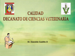 Dr. Oswaldo Castillo O CUMPLIMIENTO DEL DEBER SER