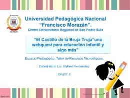 """El Castillo de la Bruja Truja""""una webquest para educación"""