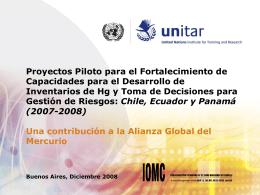 Componente 2 Inventarios de emisiones de mercurio y - INTI