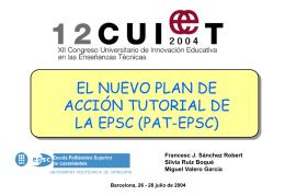 Organizar el PAT-EPSC