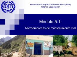 Presentación - Microempresas viales