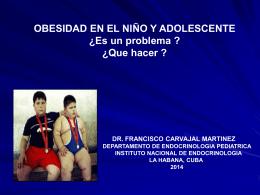 OBESIDAD EN EL NIÑO Y ADOLESCENTE