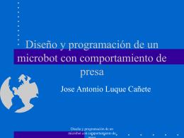Diseño y programación del un microbot con comportamiento de presa